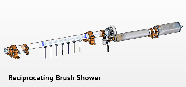 Reciprocating Brush Shower