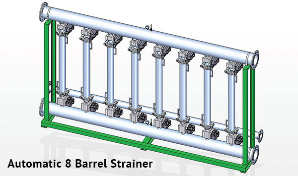 Automatic 8 Barrel Strainer